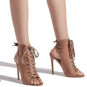 Aileena Laced Up Detailed Heels